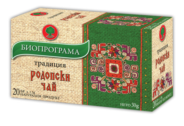 Родопски чай филтър 20 бр. Биопрограма